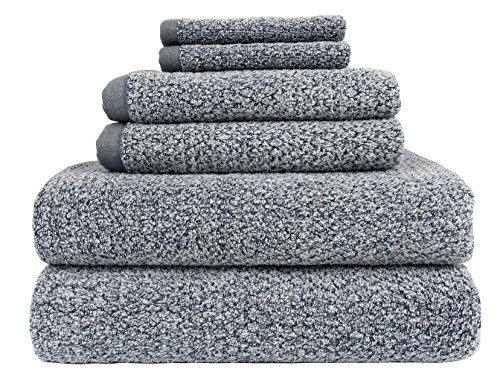 Everplush Diamond Jacquard Bath Towel 6 Piece Value Pack in Dusk