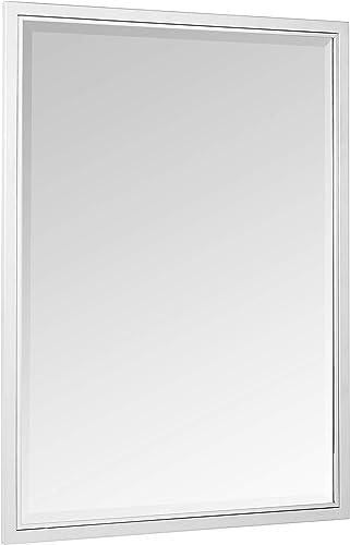 Head West 30 x 40 Classic Brush Nickel/Chrome Mirror