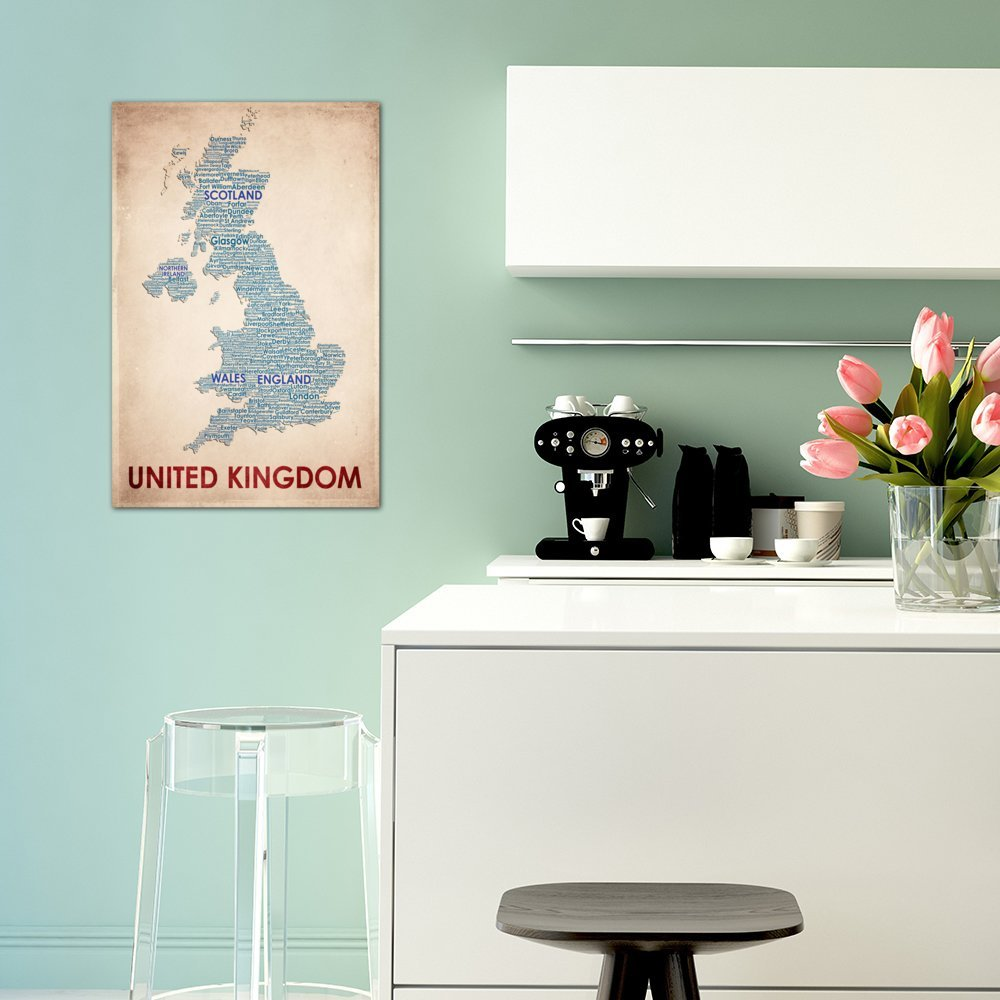 iCanvasART 3-Piece United Kingdom Canvas Print by American Flat 1.5 x 40 x 60-Inch