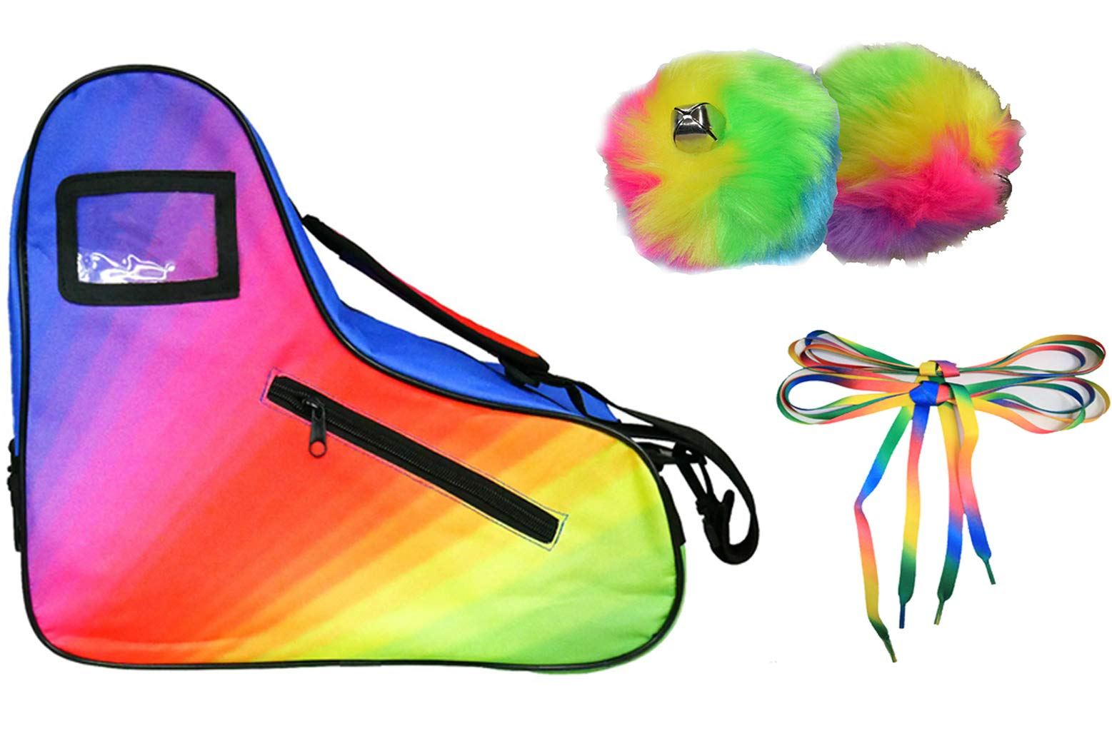 Epic Limited Edition Rainbow Roller Skate Accessory 3 Pc. Bundle