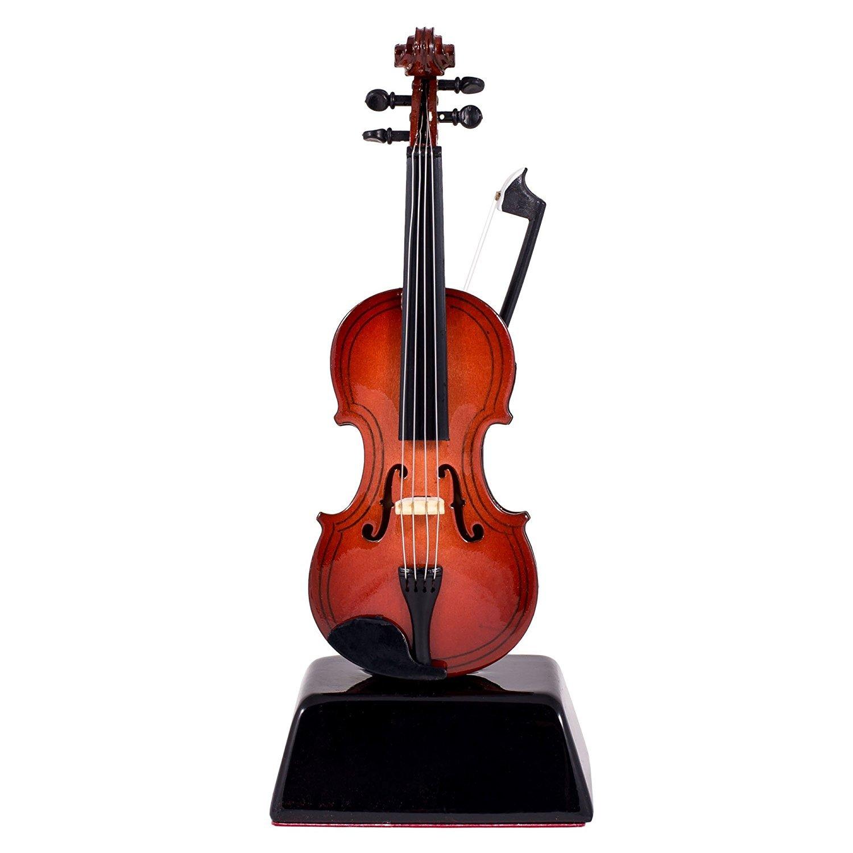 violin music instrument miniature replica on stand size 6 in ebay. Black Bedroom Furniture Sets. Home Design Ideas