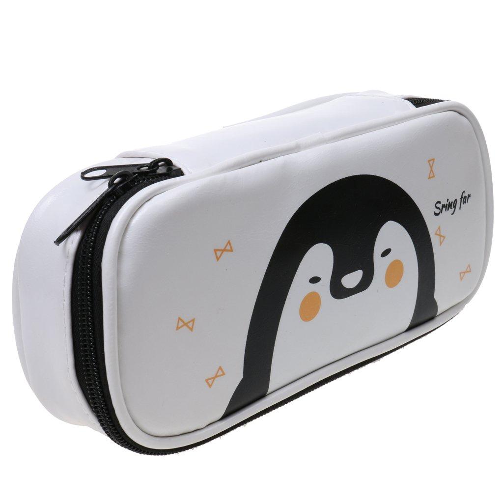 Papeterie Trousse Stylo Pu Sac De Maquillage Enfant Ecole Cadeau - Pingouin Generic