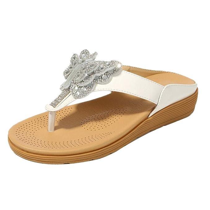 Zapatos Planos Plataforma Chanclas Mujer Playa Tallas Grandes Sandalias con Punta Abierta Zapatillas de Estar por casa Mujer Embarazada POLP 35-41EU: ...