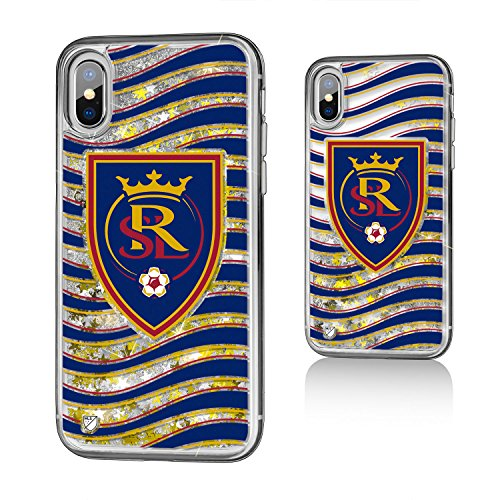 Keyscaper MLS Real Salt Lake Wave Glitter Case for iPhone X, Clear by Keyscaper