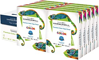product image for Hammermill Cardstock, Premium Color Copy, 60 lb, 8.5 x 11-10 Pack (2,500 Sheets) - 100 Bright, Made in the USA Card Stock