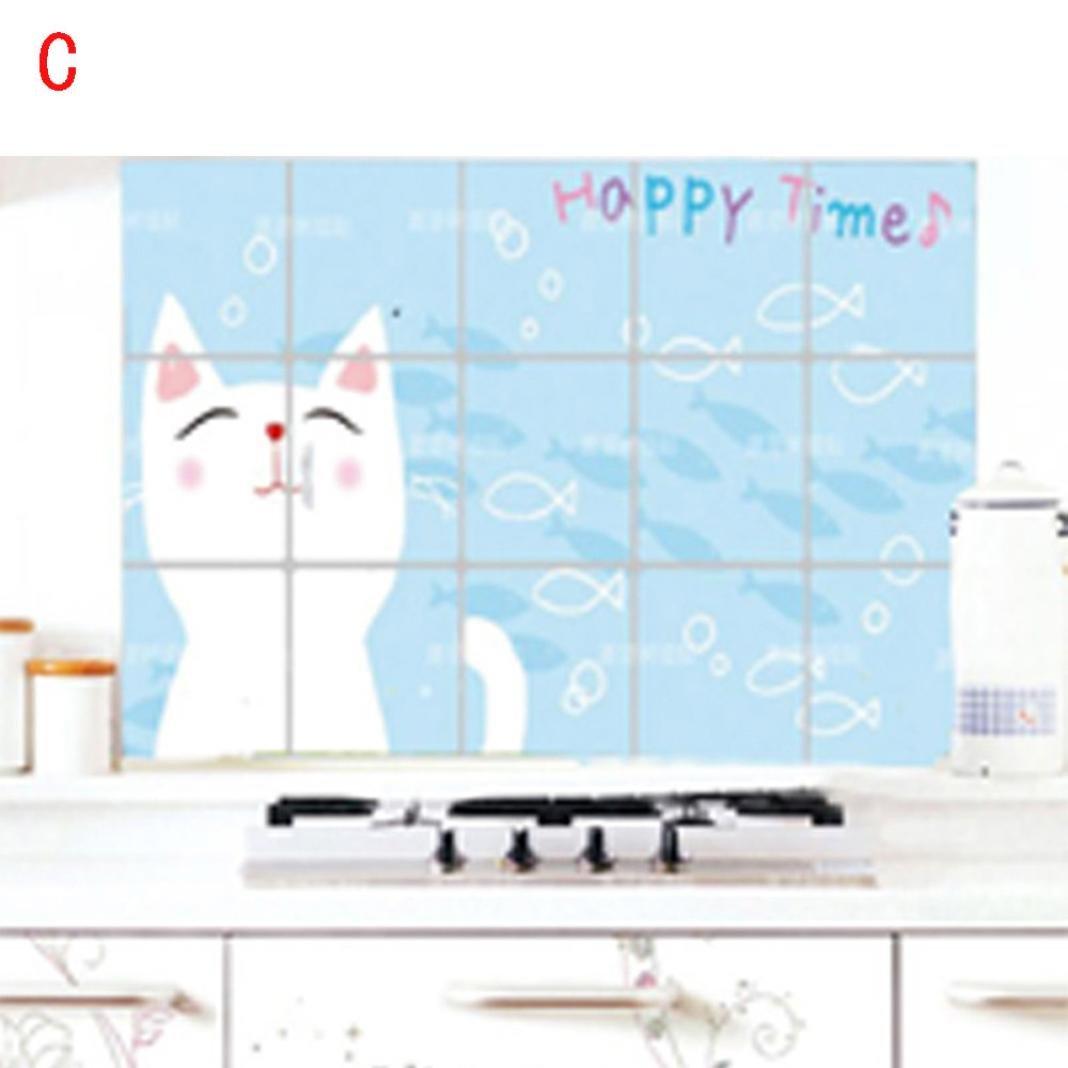 Hunpta Küche Badezimmer Selbstklebende Wand Papier Wasserdichte ...