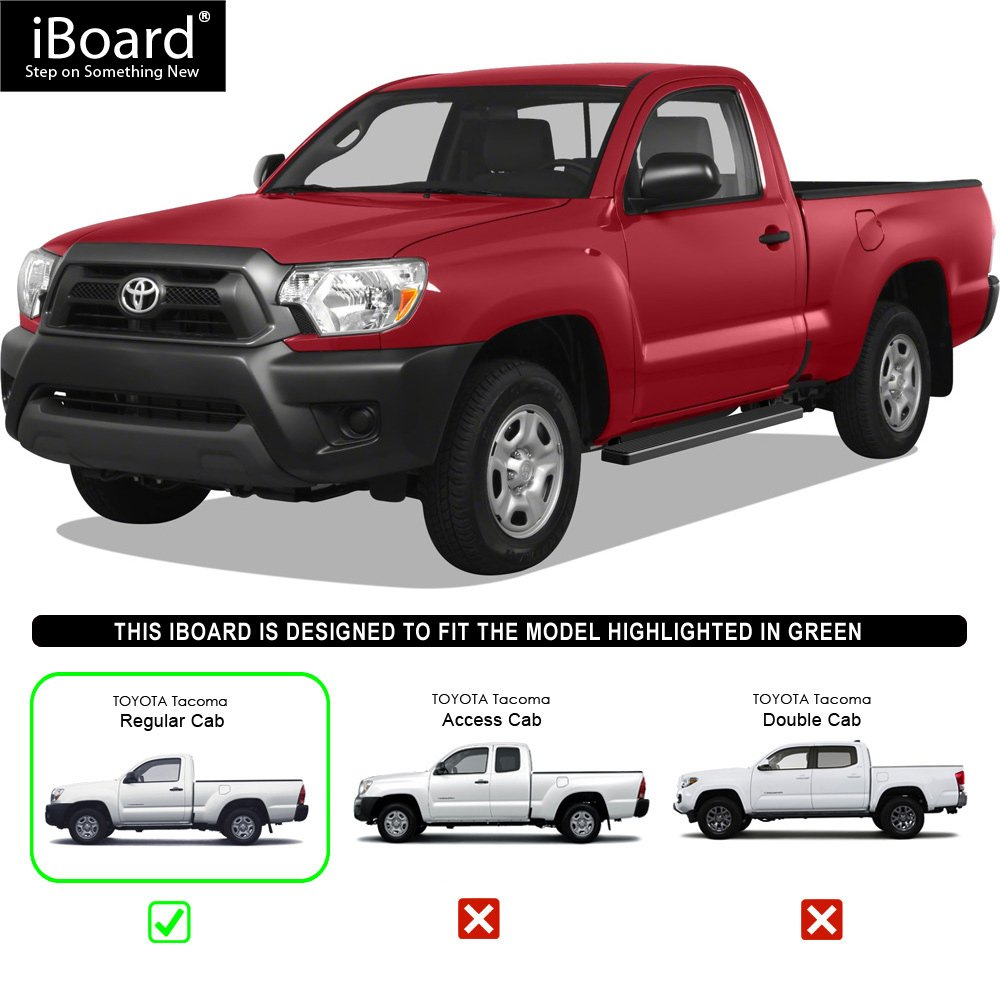 Nerf Bars Side Steps Step Bars Black Powder Coated 5 inches APS iBoard Running Boards Compatible with 2005-2020 Toyota Tacoma Standard Cab Pickup 2-Door