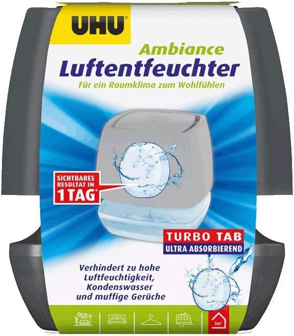 anthrazit Bek/ämpft Feuchtigkeit und Schimmel in Wohnr/äumen von bis zu 10 m/³ UHU Luftentfeuchter Ambiance 100 g
