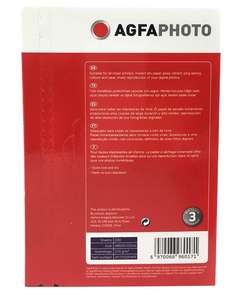 Amazon.com : AgfaPhoto AP260100A6S Inkjet Photo Paper 10 x ...