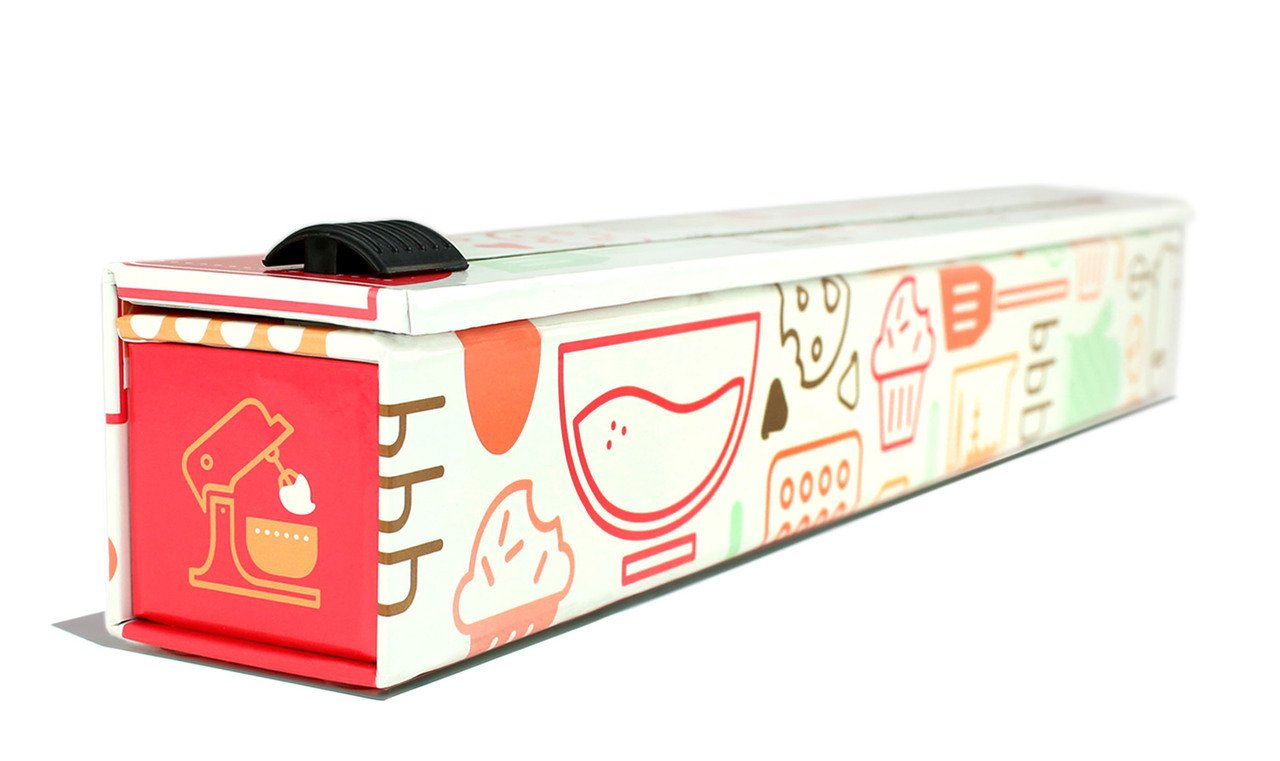 ChicWrap Baker's Tools Parchment Paper Dispenser with 15''x 41 Sq. Ft Roll of Culinary Parchment Paper by ChicWrap