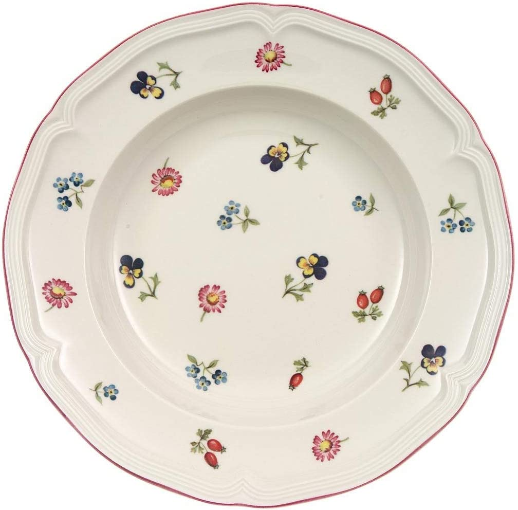 Villeroy & Boch Petite Fleur Plato Hondo, Porcelana, Rojo