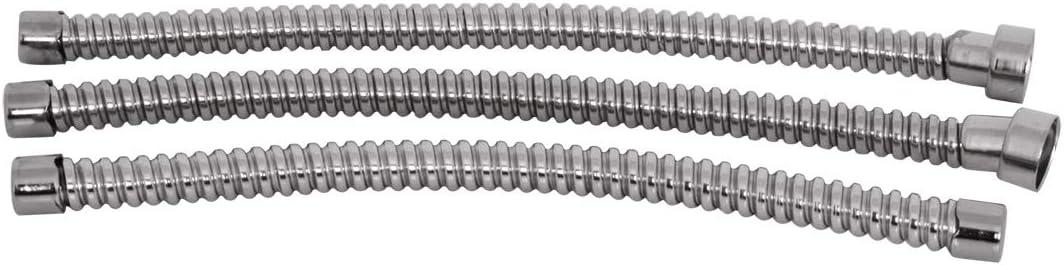 KNS Accessories KA0950 1928-31 Model A Stainless Steel 3 pc Wire Conduit Set Headlamp /& Horn