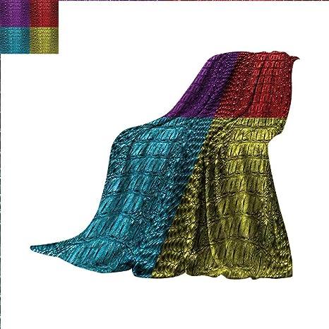 c211a44b8ae Amazon.com  Animal Print Beach Blanket Pop Art Crocodile Skin ...