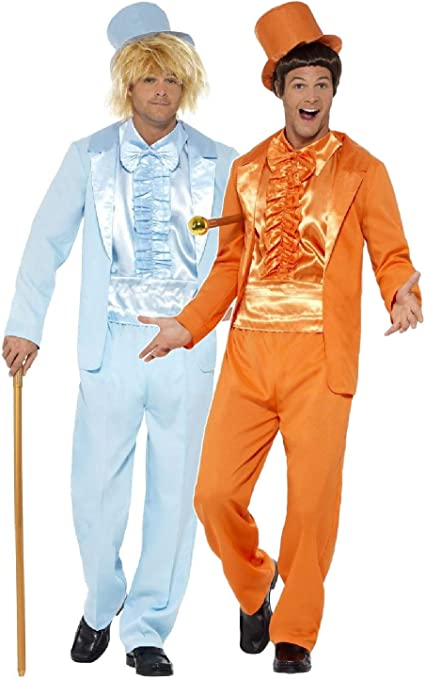Men/'s Dumb /& Dumber Harry Blue Tuxedo 1990/'s Fancy Dress Costume Movie Stag