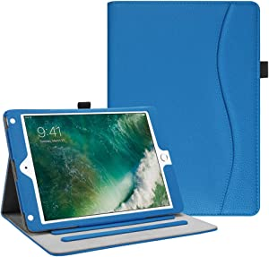 Fintie Case for iPad 9.7 2018 2017 / iPad Air 2 / iPad Air - [Corner Protection] Multi-Angle Viewing Folio Cover w/Pocket, Auto Wake/Sleep for iPad 6th / 5th Gen, iPad Air 1/2, Royal Blue