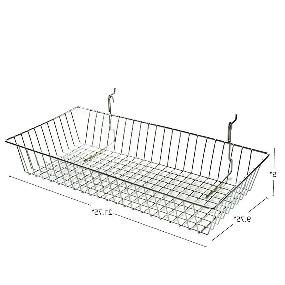 5''H Chrome Wire Basket, 2Pack