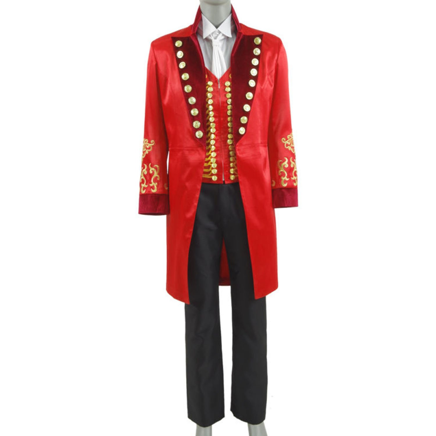 Men's Circus King Stage Performance Suits Halloween Outfit Cosplay Costume ringmaster greatest showman style