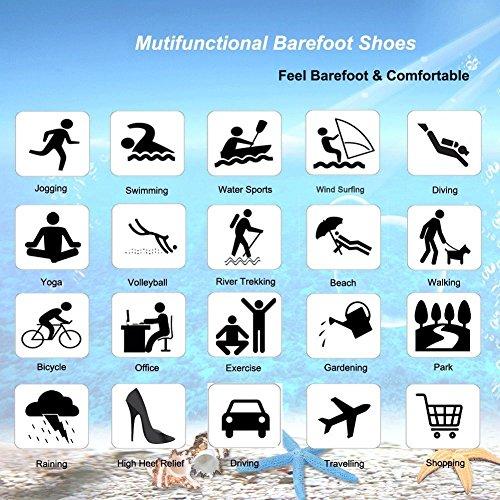 ba Messer Wasser Schuhe Mens Womens Beach Swim Schuhe Quick-Dry Aqua Socken Pool Schuhe für Surf-Wasser-Aerobic Farbverlauf blau