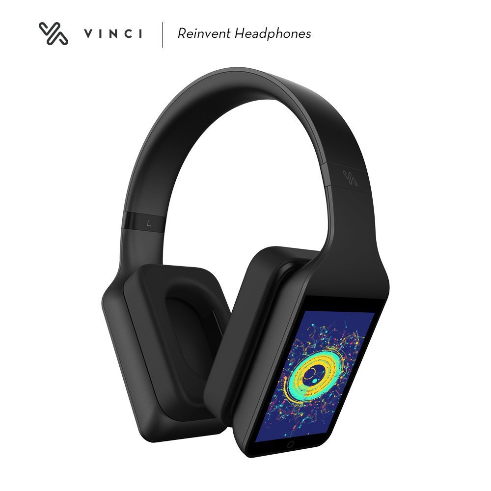 VINCI Smart Headphones with Artificial Intelligence - Alexa Enabled, Bluetooth Wireless Head Phones with AI, Smart Touch Controls, 16GB Storage - Directly Stream from Spotify, Soundcloud, Amazon Music