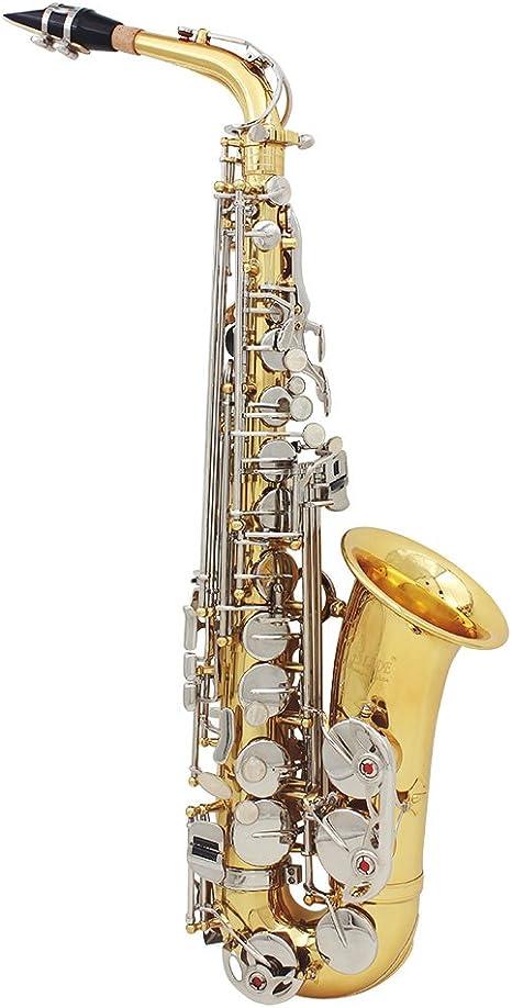 ammoon LADE Saxofón Alto Saxófono Latón Brillante Grabado Eb E ...
