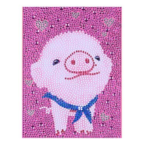 Sayolala Cartoon Animals Pattern Diamond Painting, 5D DIY Diamond Art Kit Crystal Rhinestone Embroidery Home Decor Gift, 15x15cm/15x20cm