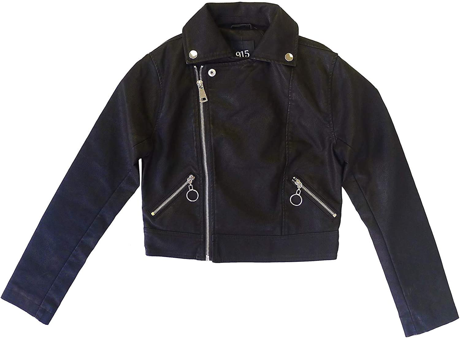 Girls New Look Leather Look Crop Biker Jacket Zip Fashion Coat Sizes from 9 to 15 Years