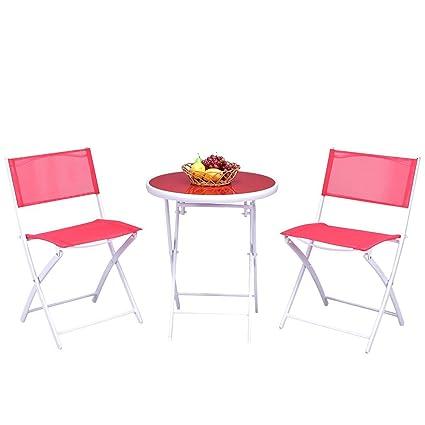 Amazon.com: Giantex - Juego de 3 sillas plegables para mesa ...