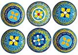 italy pasta bowl - Melange 6-Piece 100% Melamine Bowl Set (Gardens of Italy Collection ) | Shatter-Proof and Chip-Resistant Melamine Bowls