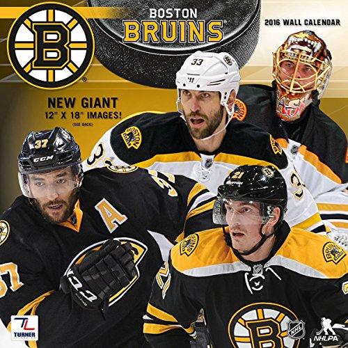 "Turner Boston Bruins 2016 Team Wall Calendar, September 2015 - December 2016, 12 x 12"" (8011932)"