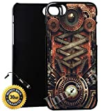 Innosub Custom iPhone 7 PLUS Case (Steampunk Motherboard) Edge-to-Edge Plastic Black Cover with Shock and Scratch Protection   Lightweight, Ultra-Slim   Includes Stylus Pen