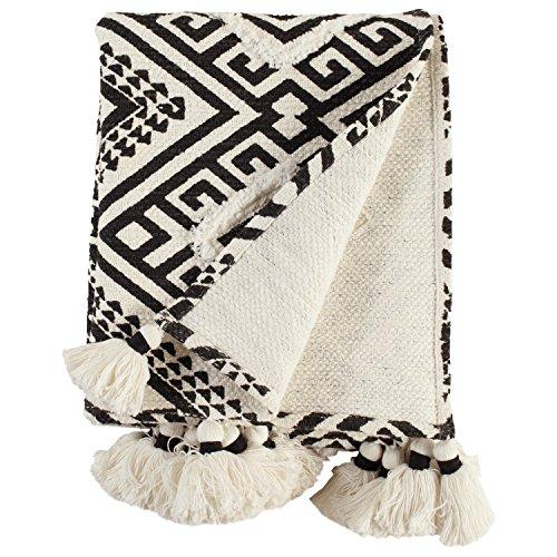 Rivet High Contrast Global Geometric 100% Cotton Throw Blanket ()