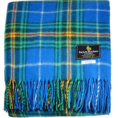 Tartan Blanket Wool Mix Scottish Nova Scotia Canadian Tartan 60 x 72 inches (Canadian Wool)
