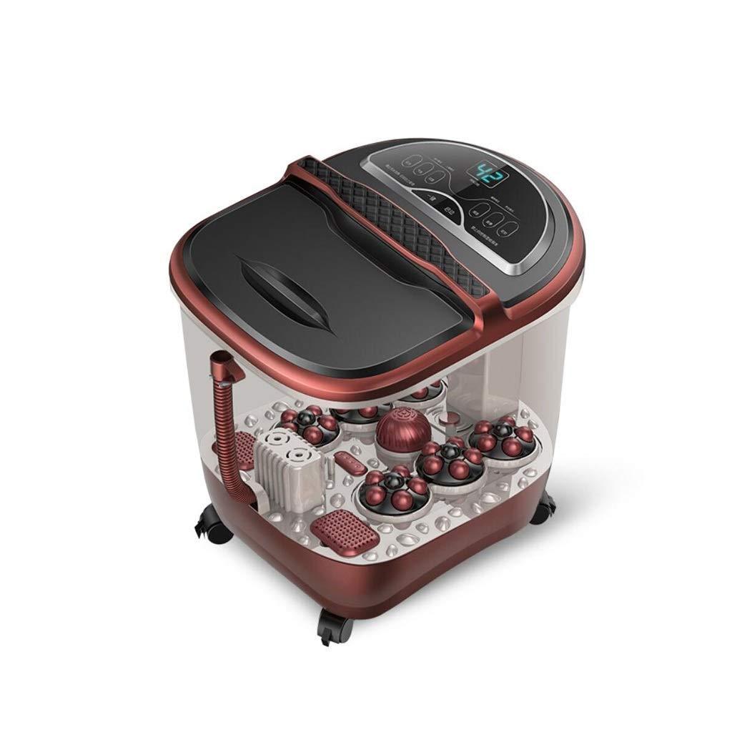 自動フットスパマッサージ器、 自動ペディキュアマッサージ回転ペディキュアストーンバブル磁気療法フットソーカー B07RTZSM9D