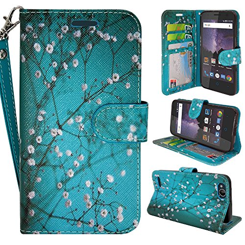 ZTE Blade Vantage Case, ZTE Tempo X Case, Customerfirst Luxury PU Leather Wallet Flip Protective Case Cover with Card Slots and Stand for ZTE Blade Vantage Z839/ZTE Tempo X N9137 - Store Tay Online