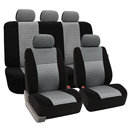 FH Group Universal Fit Full Set Trendy Elegance Car Seat Cover