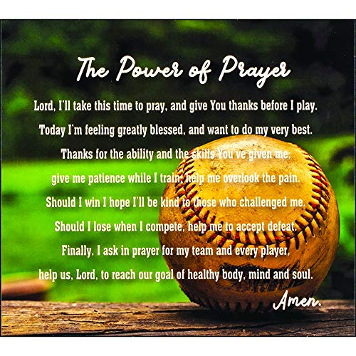 Dicksons The Power Prayer Amen Vintage Baseball Blurred Field Wood Wall Sign Plaque