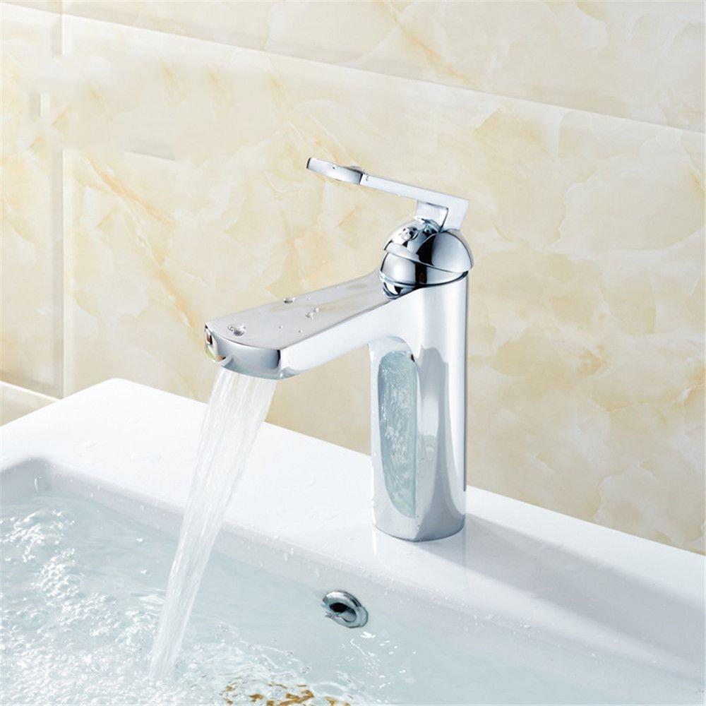 MEIBATH Waschtischarmatur Badezimmer Waschbecken Wasserhahn Küchenarmaturen Messing Kupfer Warmes und Kaltes Wasser Küchen Wasserhahn Badarmatur