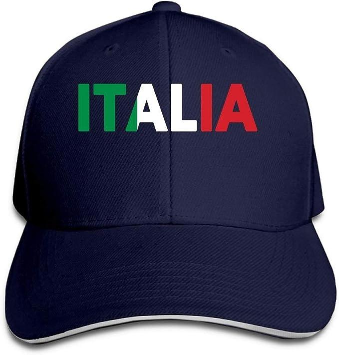 Jacklee Gorra de béisbol Ajustable de la Marca Italia con la ...
