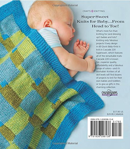 60 Quick Baby Knits: Blankets, Booties, Sweaters & More in Cascade 220™ Superwash (60 Quick Knits Collection) by Sterling Publishing (Image #2)