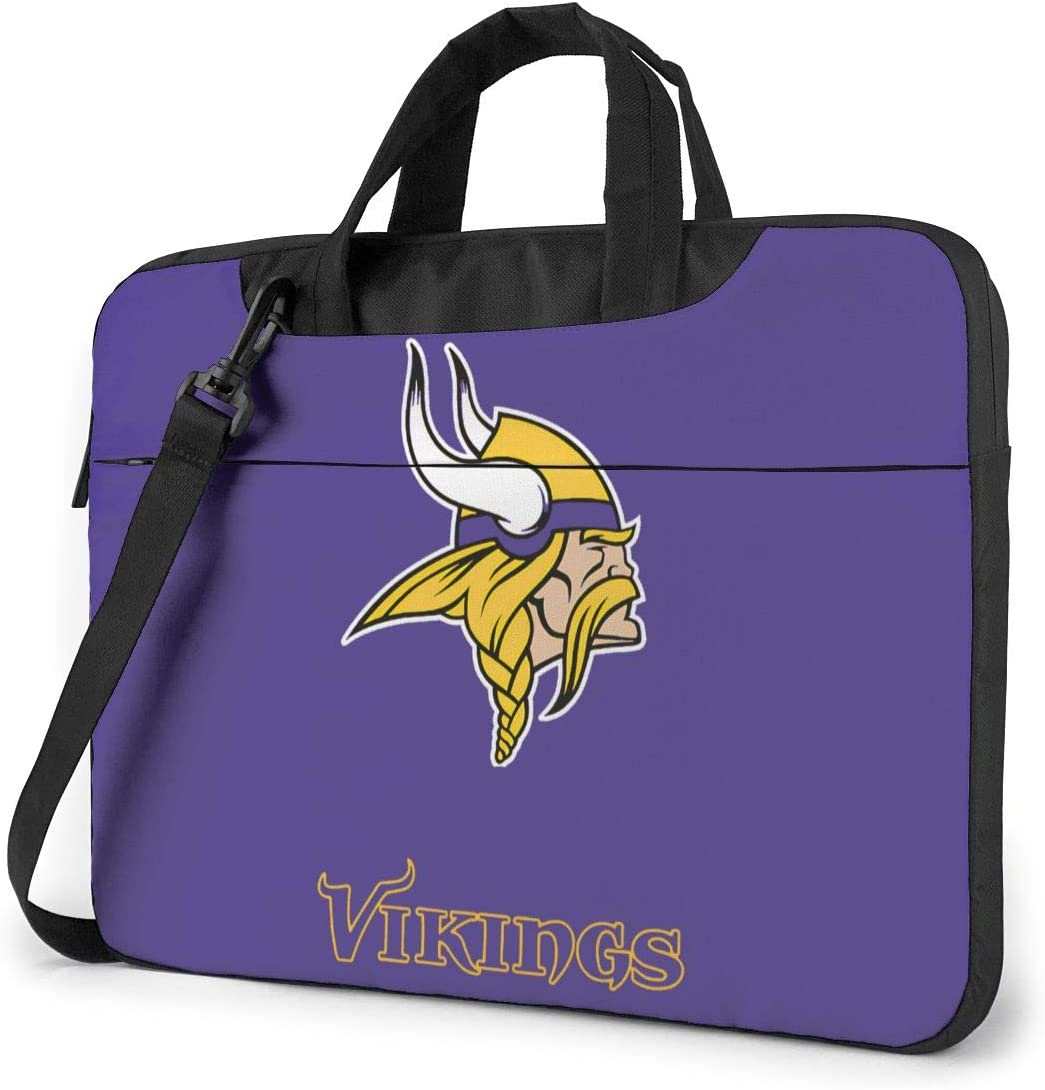 Azhangljqn Laptop Bag Minnesota Vikings Laptop Shoulder Bag, One Shoulder Shockproof Laptop Bag, Handbag, Business Travel Bag