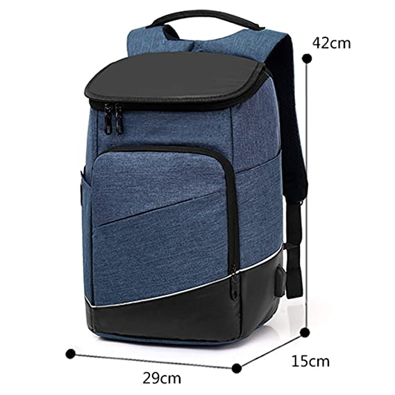WANGFF Mochila Antirrobo Impermeable Mochila Portatil 14 Pulgadas Mochila Hombre con Puerto de Carga USB Mochila Backpack para el Laptop para Ordenador del ...