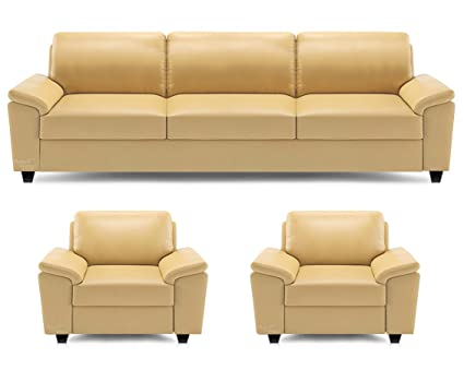 Beanbagwala Spaces Therapy Oxford Leatherette 3 1 1 Seater Sofa Set