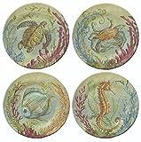 Merritt International Sea Life 7.5in plate all 4 animals