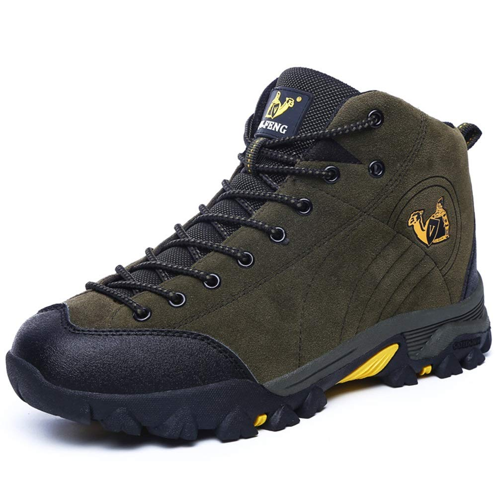 Qiusa Punch Resistant Schuhe für Männer Rutschfeste Durable Soft Sohle Outdoor Wandern Wanderschuhe (Farbe : Grün, Größe : EU 40)