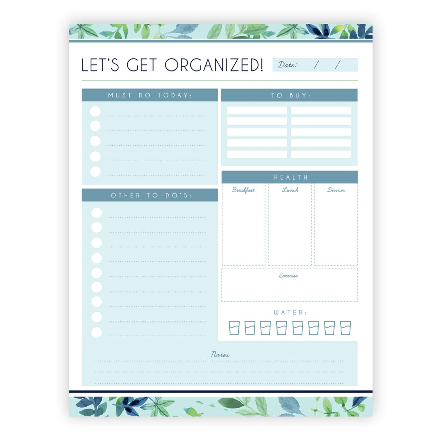 graphic relating to Daily Goals Checklist known as Every day Planner - 8.5x11 Inches of Undated Record Organizer Tear-Off Pads with Industry Activity Notes - for Dwelling and Do the job Magazine, Particular person Objectives,