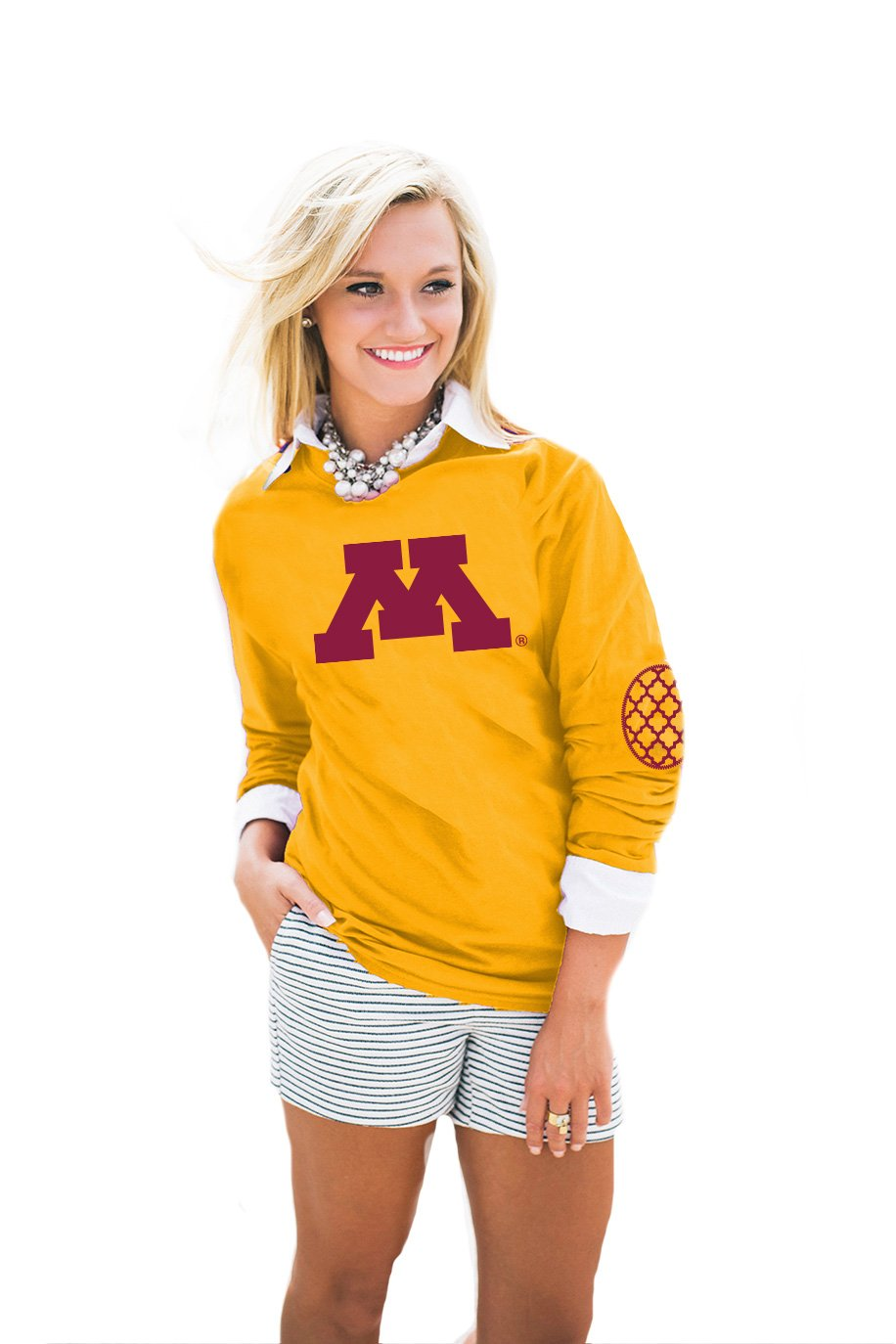 Gameday Couture NCAA Women's Puff Print Elbow Patch Tee
