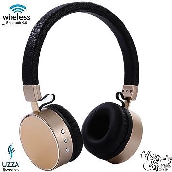 Inalámbrica Bluetooth auriculares con micrófono Uzza cancelación de ruido auriculares, manos libres, entrada de audio para iPhone/iPad/iPod/Samsung ...