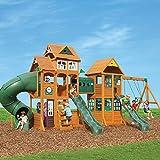 Cedar Summit Wooden Play Set Complete Park Forts Slides Swings Lumber