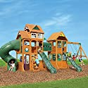 Cedar Summit Wooden Play Set Complete Park Forts Slides Swings Lumber