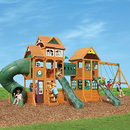 Fort Swing (Cedar Summit Wooden Play Set Complete Park Forts Slides Swings Lumber)
